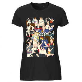 Team D x Hands of God, Olympic Moments T-Shirt Damen
